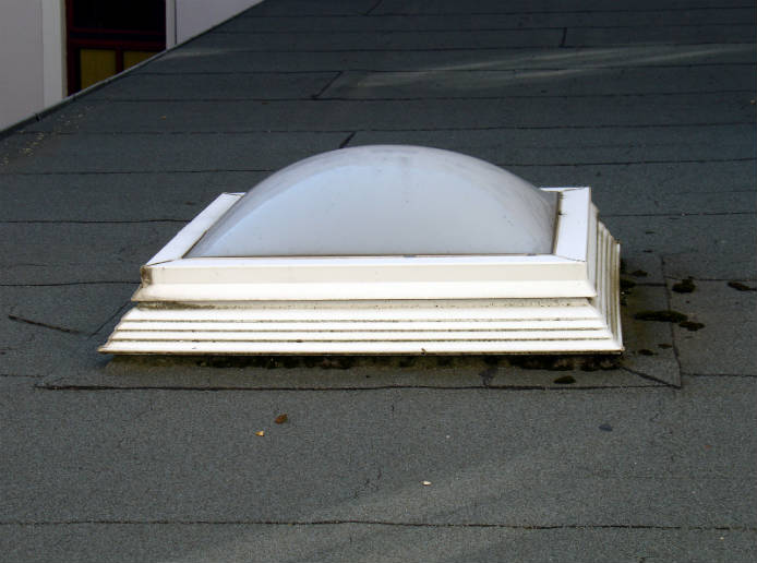 Older acrylic bubble skylight
