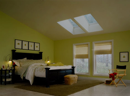 Prevent leaking skylights - Bedroom with skylights during rainy weather