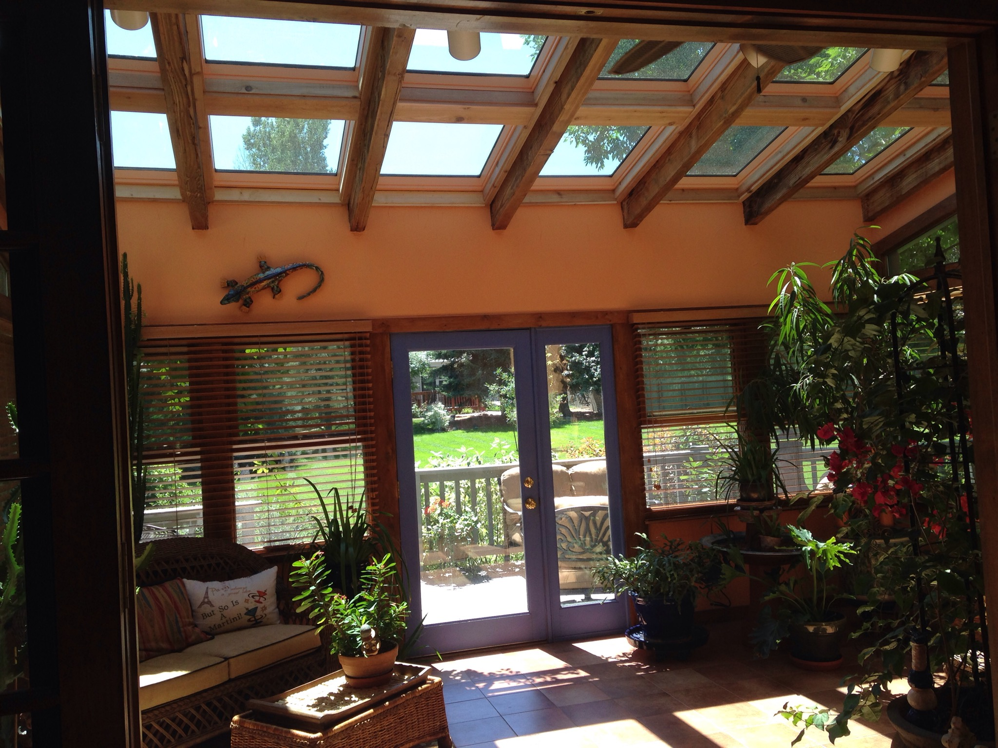 Full replacement of multiple skylights in a sunroom