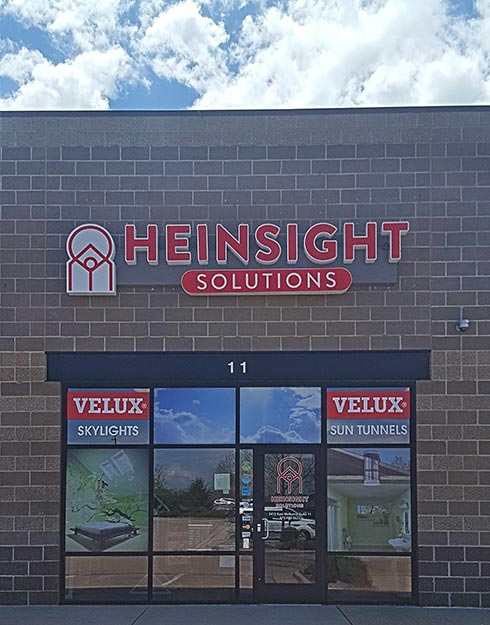 The front of Heinsight Solutions storefront